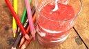 Faisselle et purée de fraises