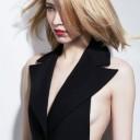 Coupe au carré blond automne-hiver 2015 @ Nicolas Christ pour L'Oréal Professionnel