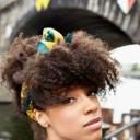 Coiffure afro foulard
