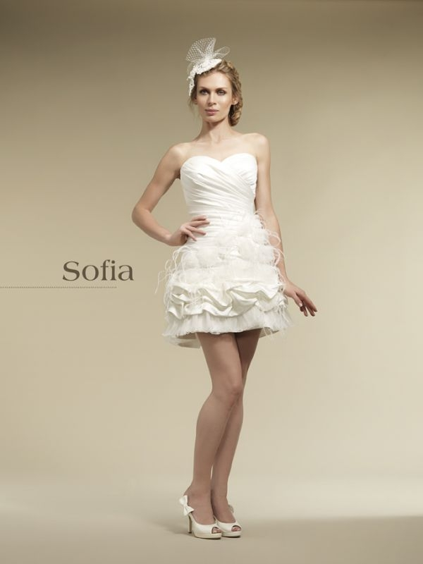 Robe de mariée rock Sofia de Priam Paris : Robe de mariée courte ...