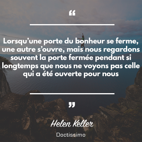 Citation d 39 helen keller diaporama psychologie doctissimo for Miroir qui s accroche a la porte