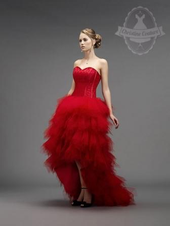 Robe de mariée rouge Comédie de Christine Couture : robe de mariée ...