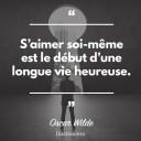 Si¦üaimer soi-mI¦üme est le dE¦Çbut di¦üune longue vie heureuse.