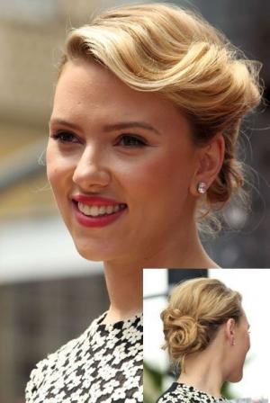 Le chignon rétro de Scarlett Johansson