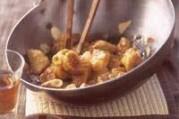 Bananes au wok, sauce caramel