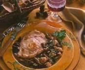 Côtes de veau aux champignons et aux ris de veau