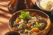 Tajine d'agneau aux raisins et au miel