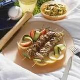 Brochettes d'agneau marinées à la grecque