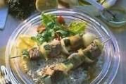 Brochettes de veau au citron