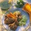 Côtes d'agneau au thym et vinaigrette à la menthe