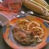 Côtes de veau aux galettes de maïs