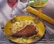 Foie de veau pané au citron et tagliatelles