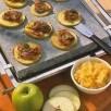 Pierrade de foie de veau aux pommes vertes