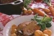 Rôti de foie de veau aux oignons