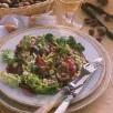 Salade tiede aux rognons de veau aux noisettes