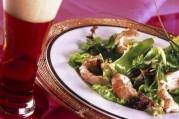 Salade aux langoustines et pois gourmands