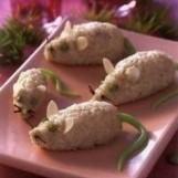 Petites souris blanches en riz au lait
