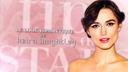 look romantique de Keira Knightley