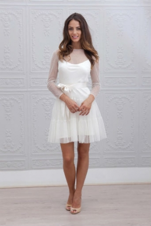Robe de mariage courte 2015 @ Marie Laporte - Diaporama Beauté ...