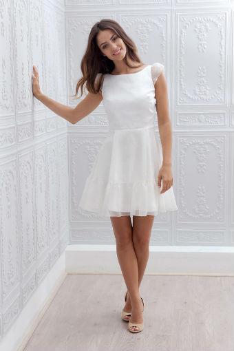 robe de mariage courte automne hiver 2015 marie laporte diaporama beaut doctissimo. Black Bedroom Furniture Sets. Home Design Ideas