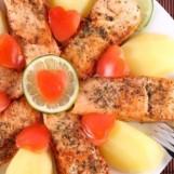 Darne de saumon au four
