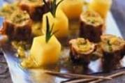 Tapas de lapin à la tapenade d'olives vertes