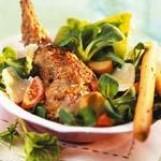 Salade caesar au lapin