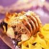 Rables de lapin farcis aux morilles et au foie gras