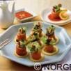 Rouleaux de saumon de norvege au ginseng
