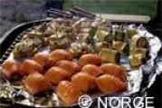 Roulades de saumon de norvège fumé farcies au fromage frais