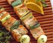 Brochettes de saumon de norvège