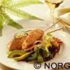 Brochettes de saumon de norvège pané aux graines de sésame grillées