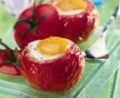 Tomates aux oeufs cocotte