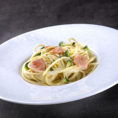 Spaghettis au saumon frais et brocolis doctissimo - Cuisiner des brocolis frais ...