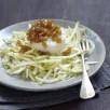 Salade croquante de fenouil, céleri-rave, pomme Granny-Smith et Pélardon