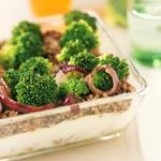 Lasagnes de brocoli et boeuf épicé