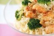 Risotto aux brocolis et langoustines