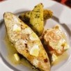 Flétan blanc de norvège cuit au four, beurre d'oeuf et carottes à la crème