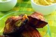 Mini-madeleines et ses toppings a l'emmental et aux petits legumes