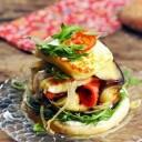 burger halloumi et légumes grillés