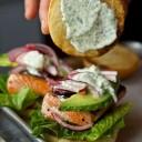 Le burger saumon