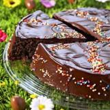 Gâteau multicolore au chocolat