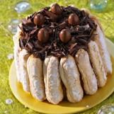 Charlotte au chocolat à la crème chiboust