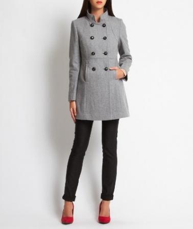 Manteau officier femme Etam Automne-Hiver 2013-2014 - Diaporama Mode