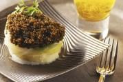 bouchee-poireau-pomme-de-terre-au-caviar-sauce-creme-et-biere