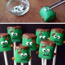 Sucettes Marshmallows Frankenstein