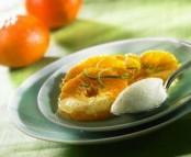 Mousse de chocolat blanc, chutney mandarine