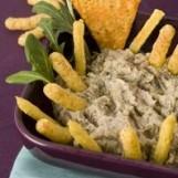 Soufflés aux rillettes de sardines, haricots blancs et beurre d'oseille
