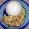 Poulet aux champignons et au lait de coco