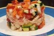Printanière de légumes aux deux saumons
